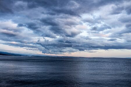 Amazing view of sea and sky from the old seaport of Rijeka Croatia