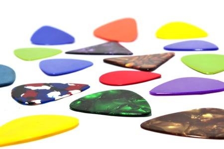 guitar pick: Multi-colored guitar pick