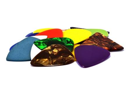 Multi-colored guitar pick