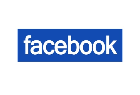 facebook logo on white background