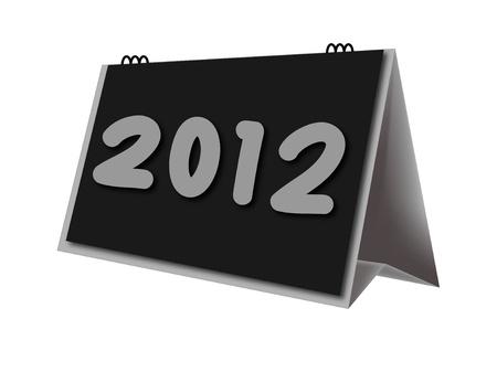 calendario escritorio: calendario de escritorio a�o 2012 en el fondo blanco