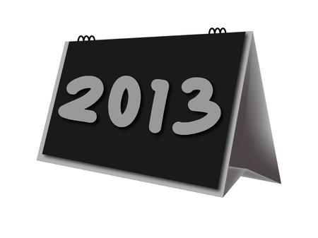 calendario escritorio: calendario de escritorio a�o 2013 en el fondo blanco Foto de archivo
