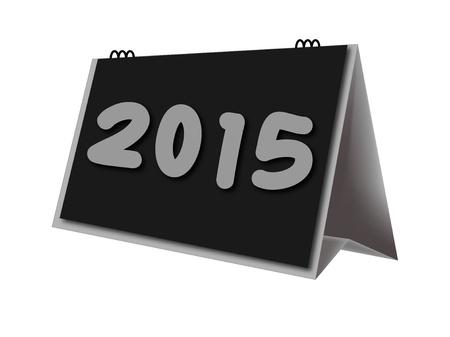 calendario escritorio: calendario de escritorio a�o 2015 en el fondo blanco