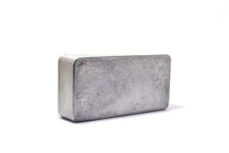 aluminum box on white background