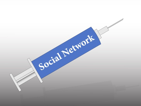 the social network in the syringe Stock Photo - 11652217