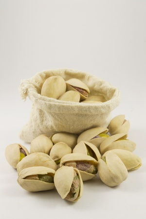 a group of pistachio leaves Stock Photo