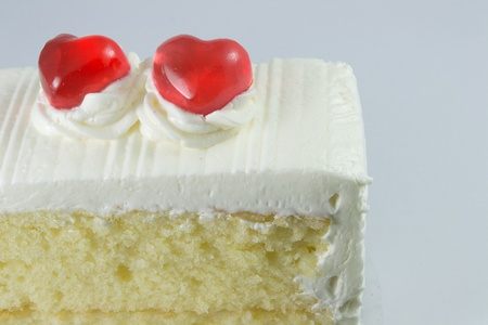 jelly heart on the cake