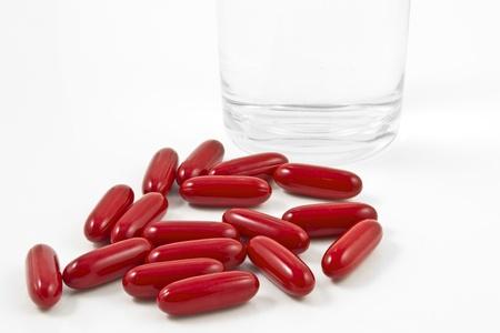 fatten: Vitamin on a white background Stock Photo