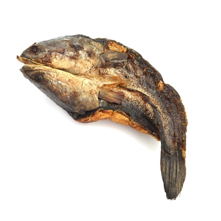 dried fish: dried fish on white background
