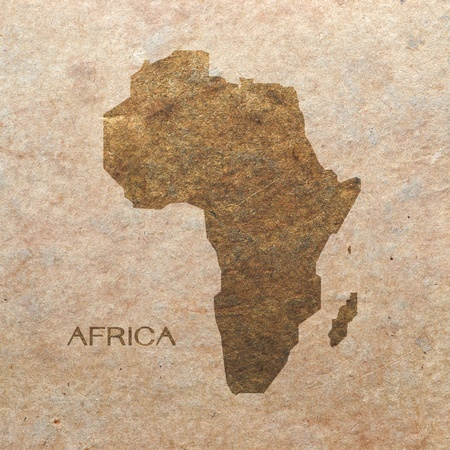 continent of africa on old paper photo