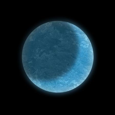 the moon on dark sky photo
