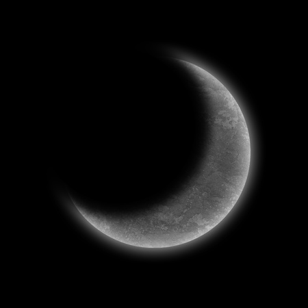 the moon on dark sky Stock Photo
