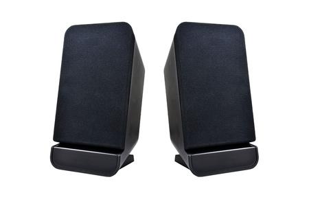 black speaker on white background