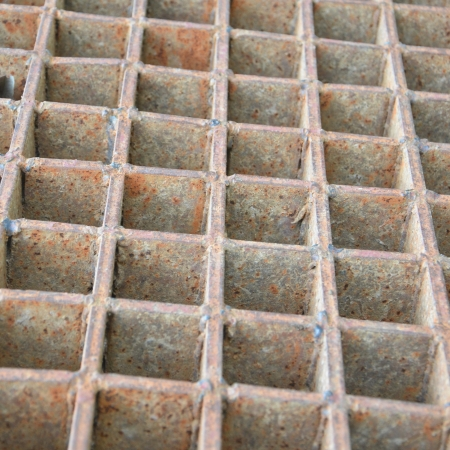 Closeup of a steel grate photo