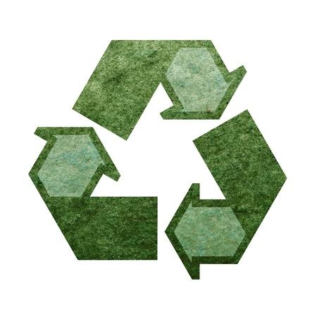 Recycle mark on white background Stock Photo