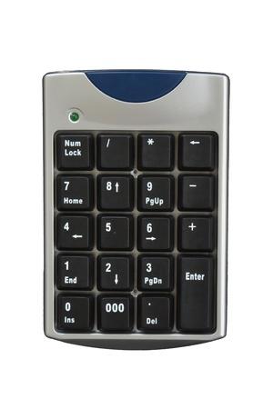 teclado numerico: computadora teclado numérico en el fondo blanco