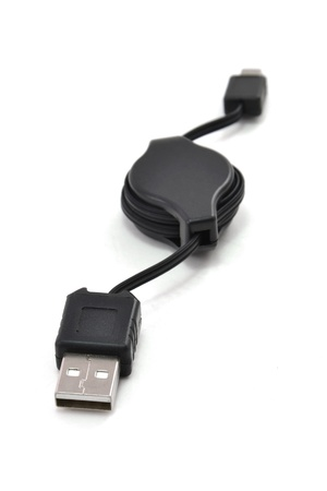 usb cable on a white background photo