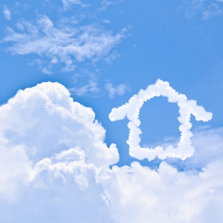 Clouds shaped house on the blue sky Stock Photo - 14835383