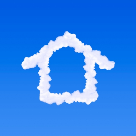 Clouds shaped house on the blue sky Stock Photo - 14835374