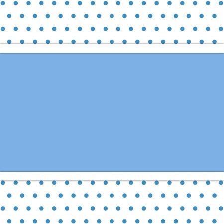 frame on polka dot background