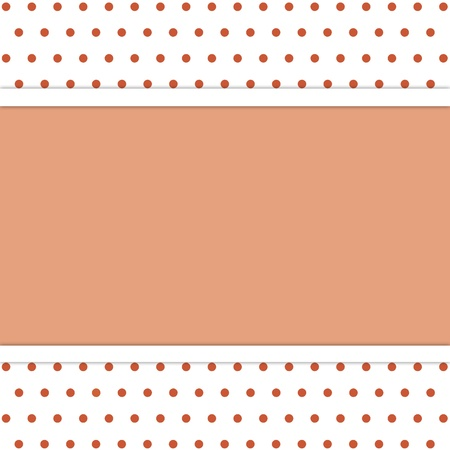 frame on polka dot background Stock Photo - 15534935