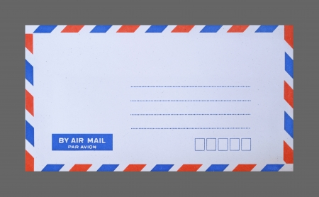 mail envelope on gray background photo