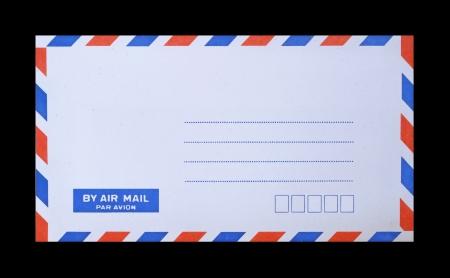mail envelope on black background