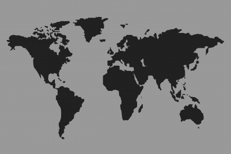 black map on gray background Stock Photo