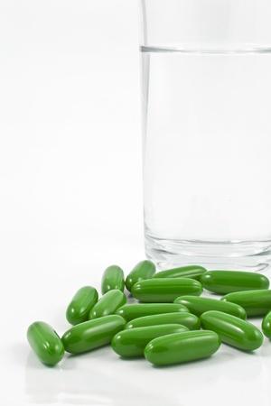 Vitamin on a white background Stock Photo