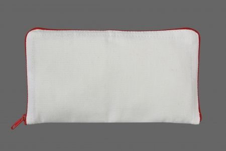 cosmetic bag on gray background Stock Photo