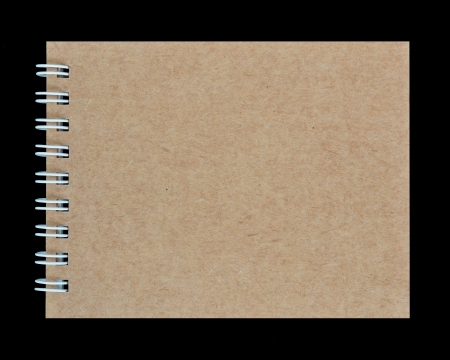 notebook on a black background