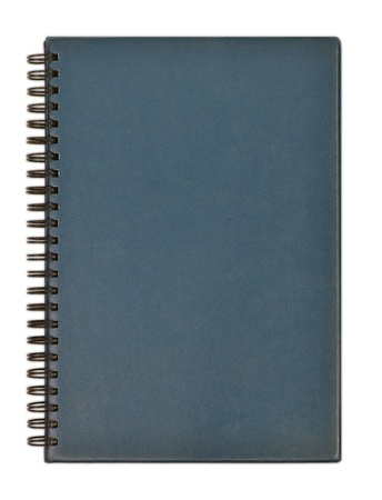 leather notebook on a white background photo