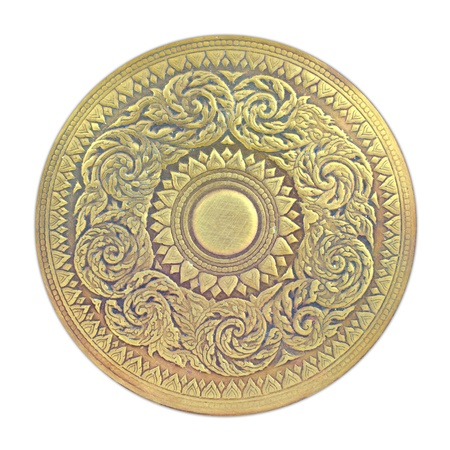 Thai pattern on old brass plate Stock Photo - 15534702