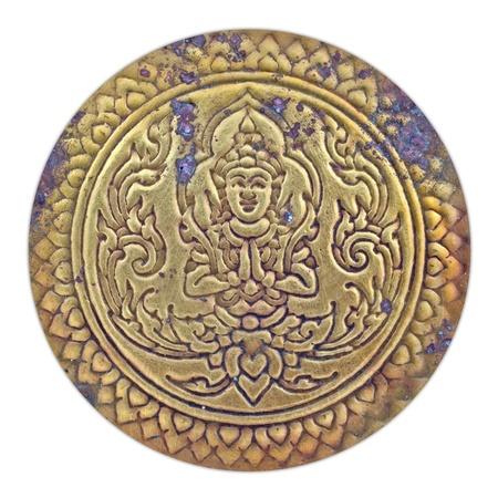 oxidated: Patr�n tailand�s en la placa de lat�n antiguo