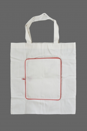 Fabric bag on gray background Stock Photo - 16159702