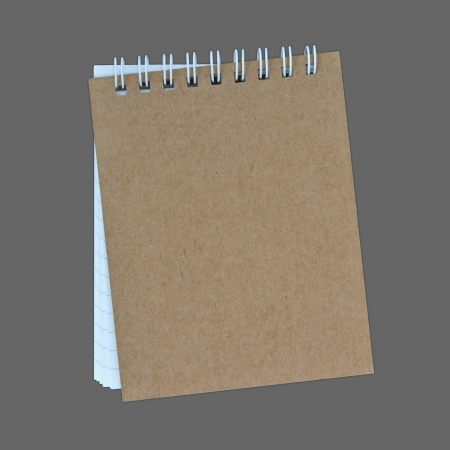 notebook on a gray background photo