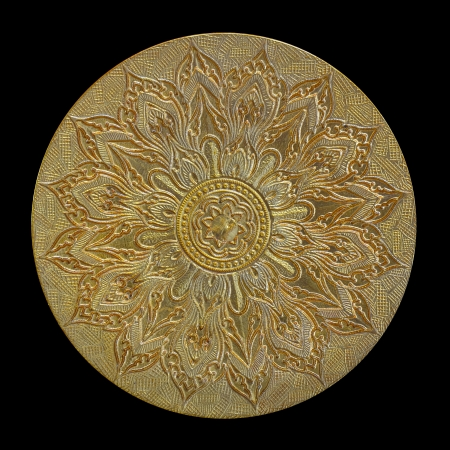 Thai pattern on old brass plate Stock Photo - 16159717