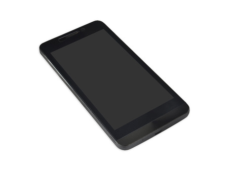smart phone isolated on white background Stock Photo