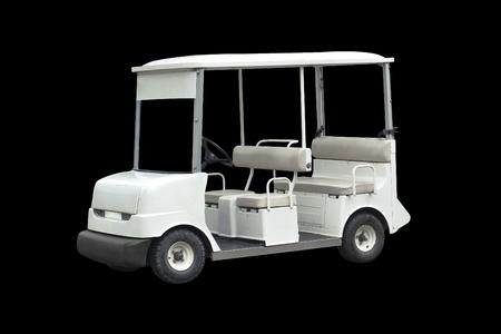 golf cart isolated on black background Stock Photo