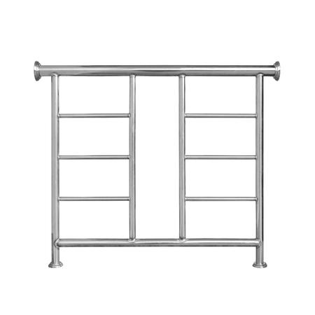 baranda para balcon: stainless railing isolated on white