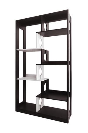 shelving unit modern furniture isolated