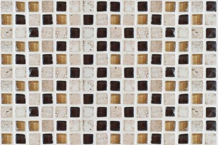 closeup texture of tile with mosaic Stock Photo