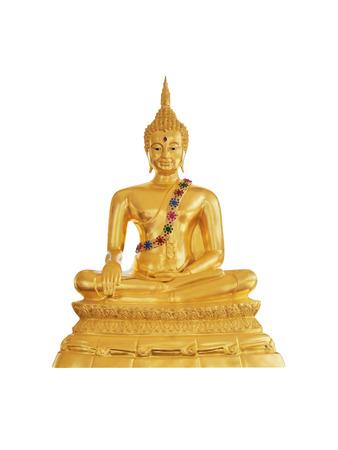 buddha statue on white background Stock Photo