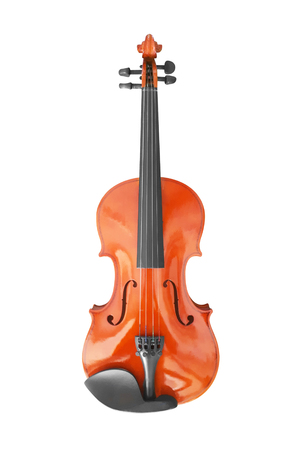 violin music instrument isolated on white background