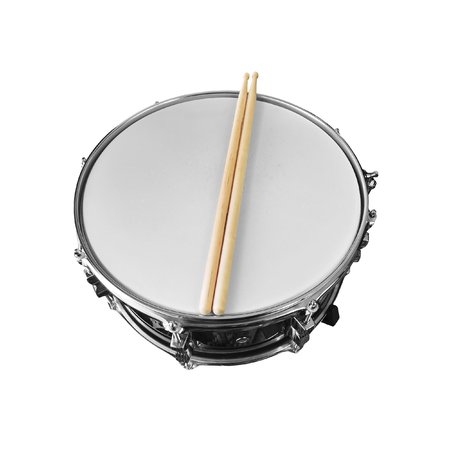 snare drum isolated on white background 写真素材