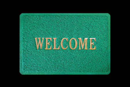 doormat isolated on black background
