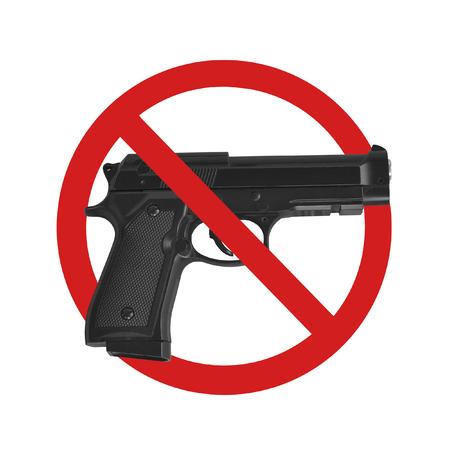 no hay señales de arma en el fondo blanco