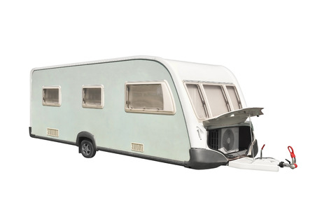 caravan isolated on white background