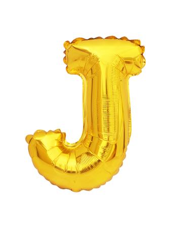 letter J balloon font isolated on white background Stock fotó