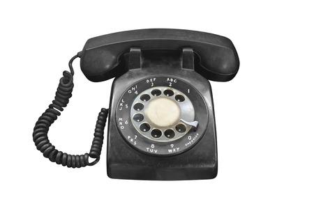 Vieux téléphone rétro isolé sur fond blanc